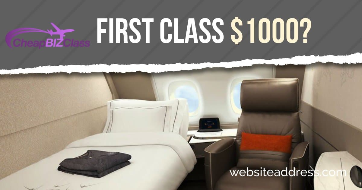 First class price