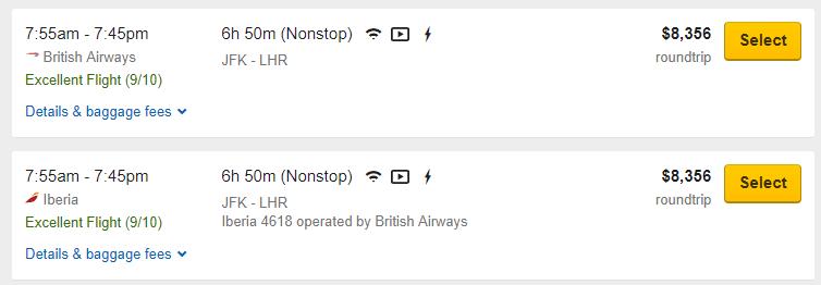 find cheap business class flights