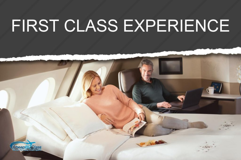what is the first class flight experience