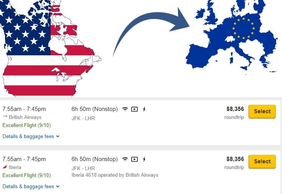 cheap business class flights to europe