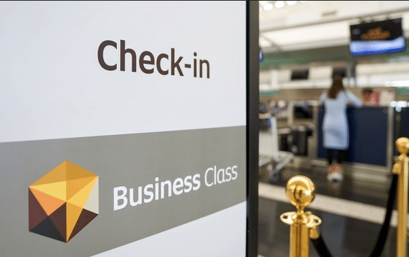 discounted business class check-in